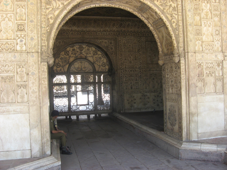 palazzo bianco al Forte di Agra