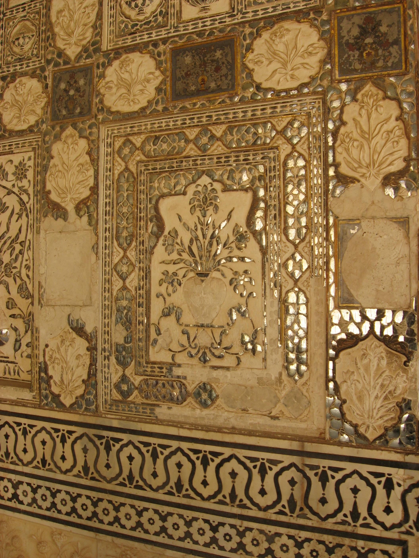 Forte di Amber, decorazione specchi