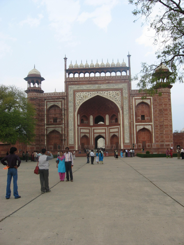 Portale ingresso al Taj Mhal