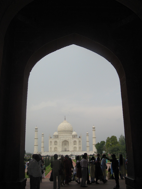 ombra e luce al Taj Mahal