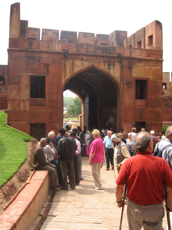 visitatori al Forte di Agra