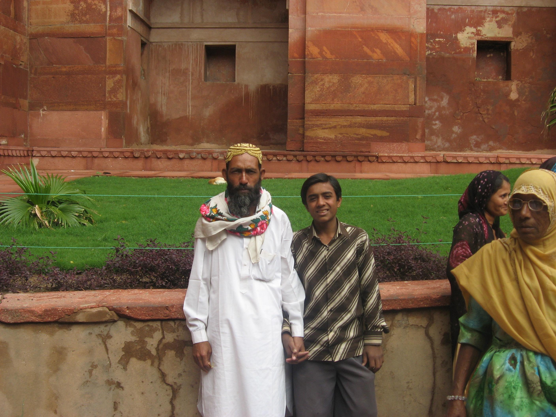ragazzi al Forte di Agra
