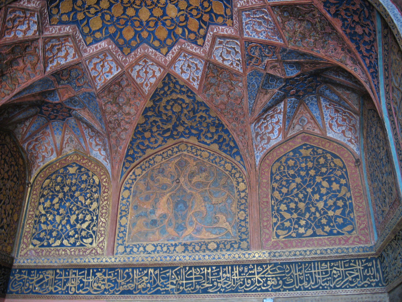 dipinto al Forte di Agra