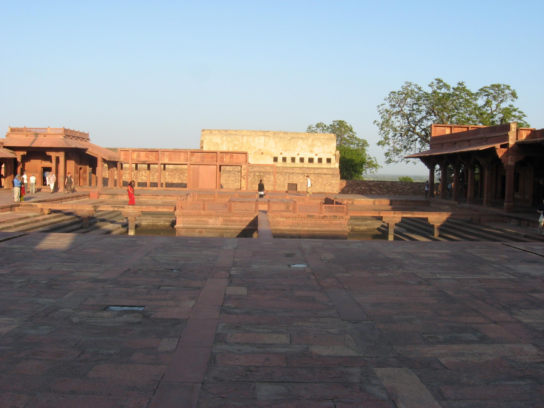 spazio vuoto al Forte di Agra
