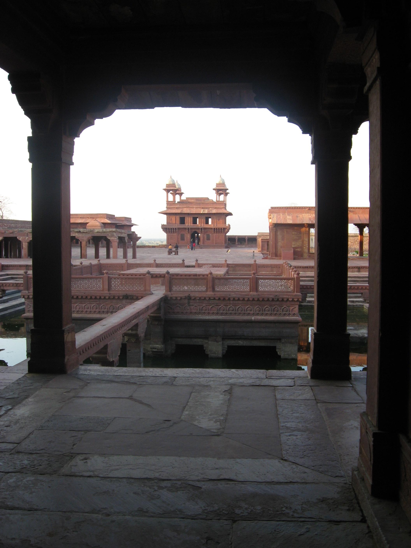 colonnato al Forte di Agra