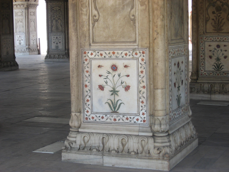 particolare decorazione al Forte di Agra