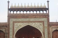 decorazione al portale del Taj Mahal