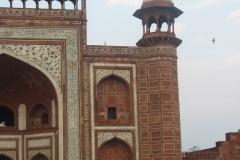 chiostro al portale del Taj Mahal