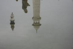 riflessi al Taj Mahal