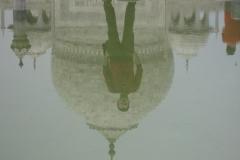 Marco P riflesso al Taj Mahal