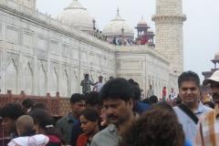 visitatori al Taj Mahal