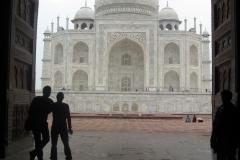 ombra e bianco al Taj Mahal