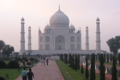 tramonto al Taj Mahal