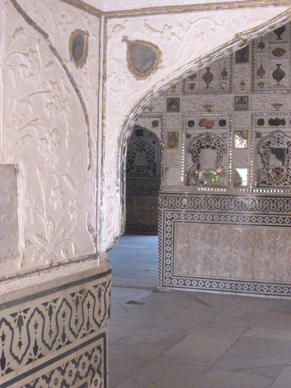 Forte di Amber, palazzo specchi angolo