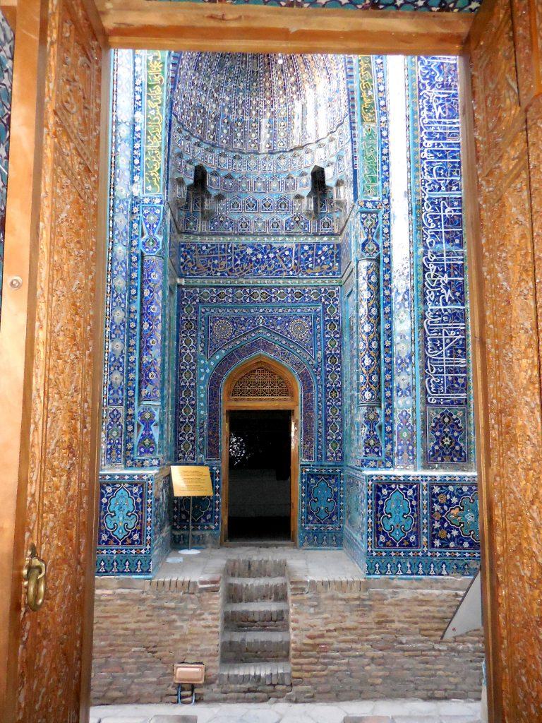 Particolare della facciata dei mausolei più antichi.
