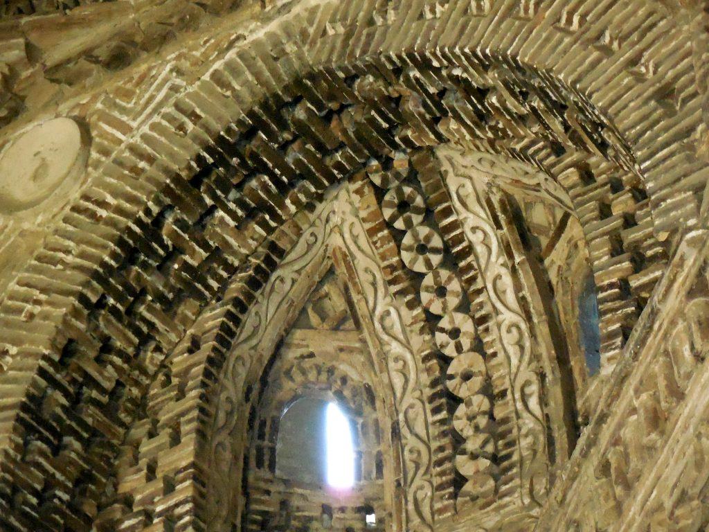 Particolare della volta all'interno del Mausoleo Samani.