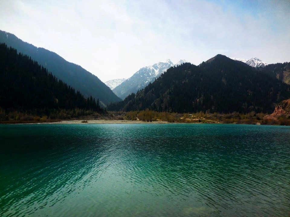 Issik Lake, in Trans Ily Alatau