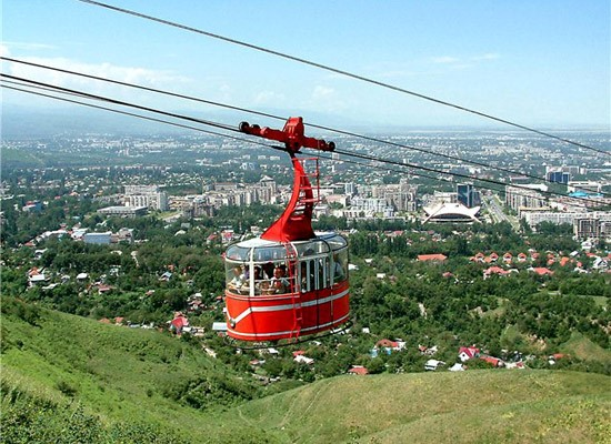 Cable car for Kok Tobe