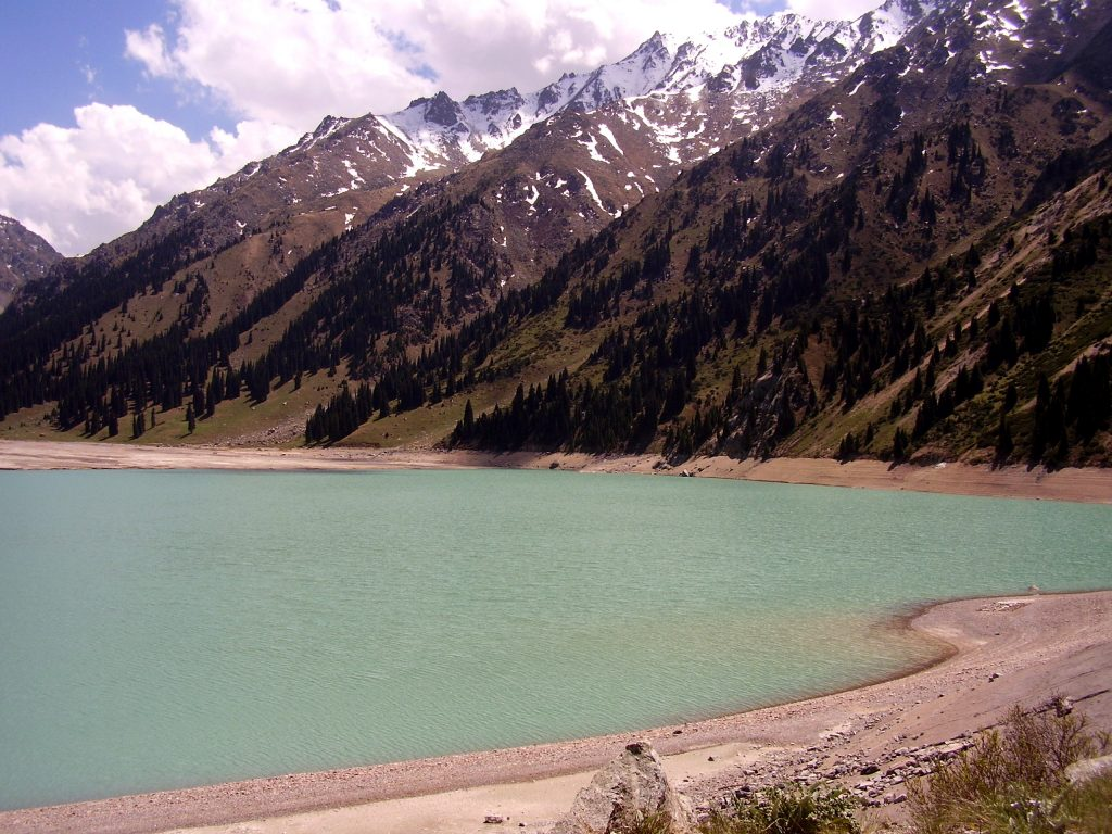 Banks of Big Almaty Lake